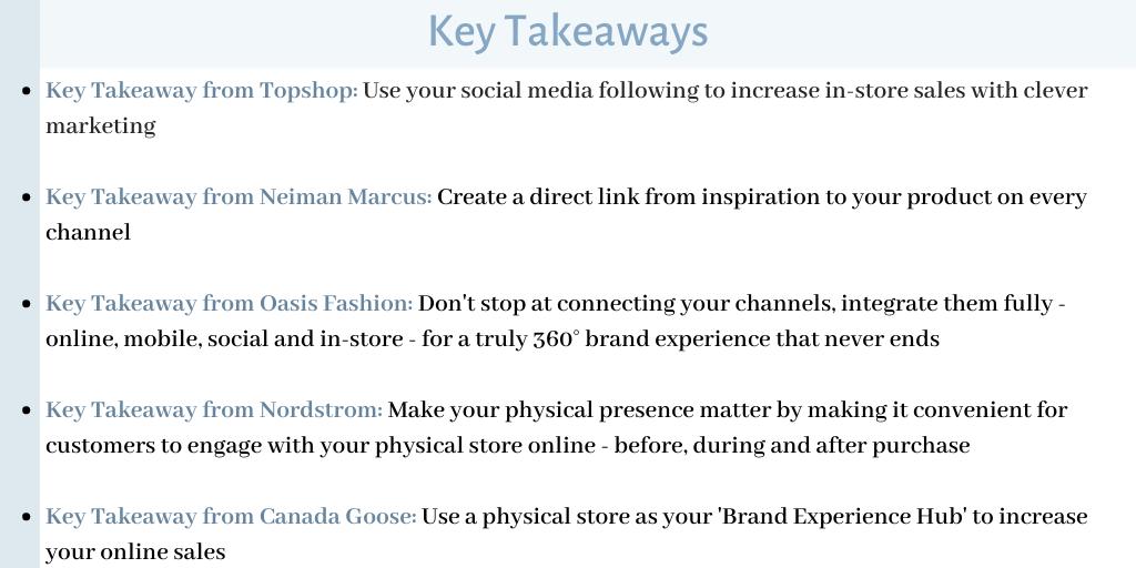 Omnichannel Retail Examples Key Takeaways