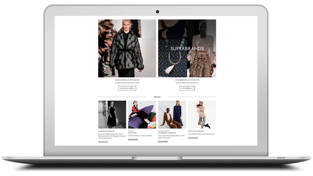 e-commerce editorial page