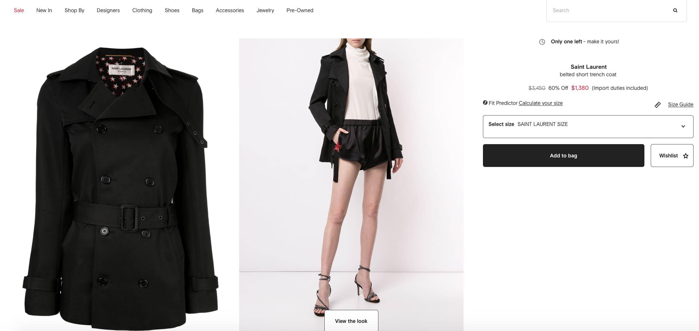 complete the look recommendations Farfetch