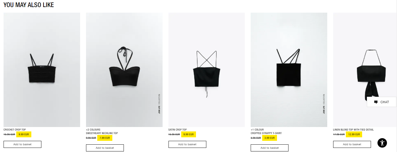 Zara Ecommerce Recommendations