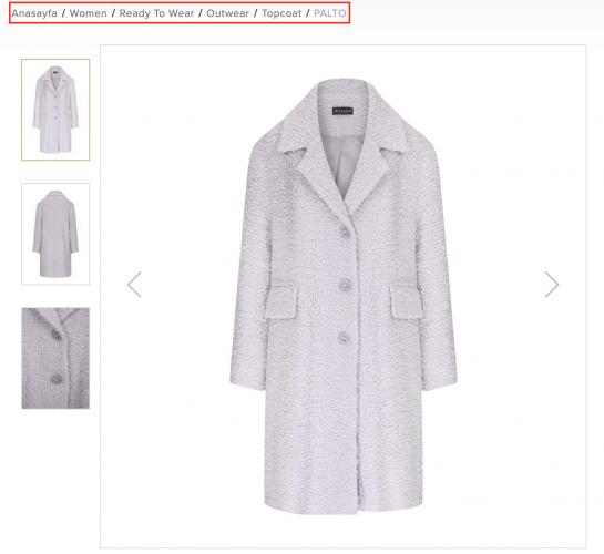 Ecommerce product pages optimization VAKKO coat